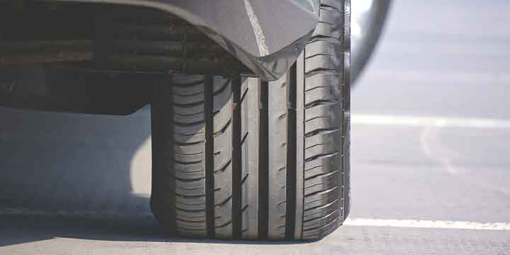 close up tire tread